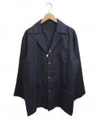 INTERMEZZO(インターメッツォ)の古着「リネン3Bサックジャケット」|ネイビー