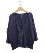 SOU・SOU(ソウソウ)の古着「リネンブレンド羽織り」|ネイビー
