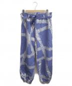 SOU・SOU(ソウソウ)の古着「プリントワイドバルーンパンツ」|ブルー