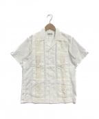 WACKO MARIA(ワコマリア)の古着「スカル刺繍キューバシャツ」|ホワイト
