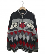 CASTELBAJAC(カステルバジャック)の古着「ニットジャケット」|ブラック×グレー