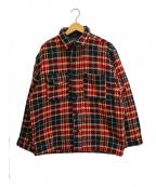 Wrangler(ラングラー)の古着「[古着]90'sチェックジャケット」 ブラック×レッド
