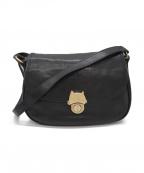 tsumori chisato(ツモリチサト)の古着「猫金具レザーショルダーバッグ」|ブラック