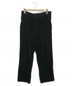 GIANNI VERSACE(ジャンニヴェルサーチ)の古着「[古着]オールド太畝コーデュロイパンツ」|ブラック