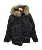 ALPHA(アルファ)の古着「N-3Bタイトフライトジャケット」|ブラック