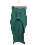 TAN(タン)の古着「スリットロングスカート」 グリーン