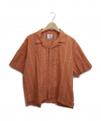 son of the cheese(サノバチーズ))の古着「ストライプホックシャツ」|オレンジ