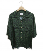 Black Weirdos(ブラック ウィドゥ)の古着「チェッカーアロハシャツ」|グリーン