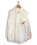PHINGERIN(フィンガリン)の古着「WAFFLE SOUP SHIRT」|ホワイト