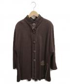 伊太利屋(イタリヤ)の古着「スタンドカラーハーフジャケット」|ブラウン