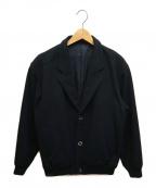 Christian Dior MONSIEUR(クリスチャンディオールムッシュ)の古着「[古着]オールドテーラードショートウールブルゾン」|ブラック