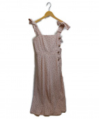 JILL STUART(ジルスチュアート)の古着「ドットキャミロンパース」|ピンク