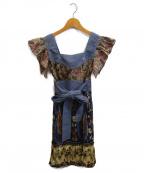 ANNA SUI(アナスイ)の古着「ノースリーブブラウスワンピース」 インディゴ