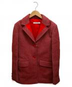 MIU MIU(ミュウミュウ)の古着「ラペル切替ウールジャケット」|ピンク