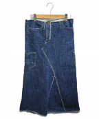 Y's(ワイズ)の古着「再構築デニムスカート」 ブルー