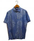 RALPH LAUREN PurpleLabel(ラルフローレン パープルレーベル)の古着「シルクアロハシャツ」|ブルー