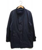 ()の古着「スタンドカラーコート」|ネイビー