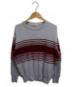 Christian Dior Sports(クリスチャンディオールスポーツ)の古着「[古着]ボーダーニット」|グレー