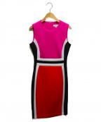 Calvin Klein(カルバンクライン)の古着「ボンディングノースリーブワンピース」|ピンク