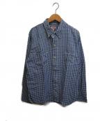 LEVI'S VINTAGE CLOTHING(リーバイスヴィンテージクロージング)の古着「1920's ONE PKT SHIRT」 ブルー×ホワイト