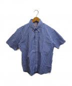 Joe McCOY(ジョーマッコイ)の古着「半袖ギンガムチェックシャツ」|ブルー