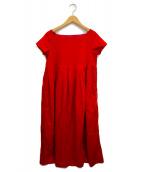 ()の古着「ロングプリーツドレス」 レッド