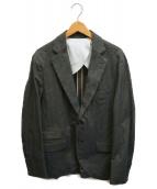 ()の古着「ヘリンボーン段返り3Bジャケット」|ブラウン