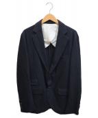 ()の古着「ストライプ段返り3Bジャケット」|ネイビー