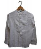 ()の古着「ストライブバンドカラープザムシャツ」|ホワイト