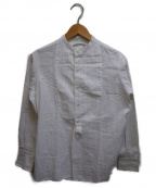 ARTS&SCIENCE(アーツアンドサイエンス)の古着「ストライブバンドカラープザムシャツ」|ホワイト