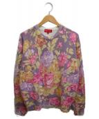 ()の古着「プリンテッドフローラルアンゴラセーター」|ピンク