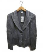 ARMANI COLLEZIONI(アルマーニ コレツィオーニ)の古着「ピークドラペルスウェットジャケット」 グレー