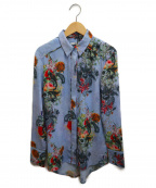 REPLAY(リプレイ)の古着「フラワープリントシャツ」|ブルー