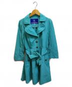 BURBERRY BLUE LABEL(バーバリーブルーレーベル)の古着「ナイロンフレアコート」|グリーン