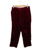 ()の古着「CORDUROY PANTS」 ボルドー