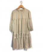 Rirandture(リランドチュール)の古着「ティアードワンピース」 ベージュ