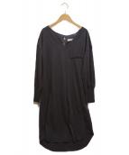 ()の古着「Asymmetric Cotton Dress Charco」|チャコールグレー
