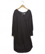 HER LIP TO(ハーリップトゥ)の古着「Asymmetric Cotton Dress Charco」|チャコールグレー