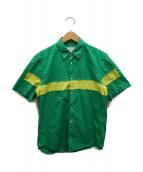 ()の古着「バイカラー切替S/Sシャツ」|グリーン