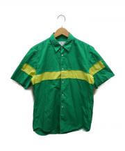 COMME des GARCONS SHIRT(コムデギャルソンシャツ)の古着「バイカラー切替S/Sシャツ」|グリーン