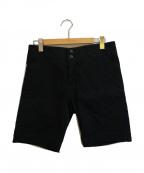 ISSEY MIYAKE(イッセイミヤケ)の古着「サイドキルテイングショートパンツ」|ブラック