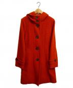 CARA O CRUZ(キャラ オ クルス)の古着「アンゴラ混フーデッドコート」|オレンジ
