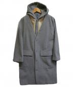 MACPHEE(マカフィー)の古着「ウールメルトンフーデッドライナーコート」|グレー
