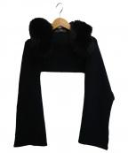 FOXEY(フォクシー)の古着「フード付カシミヤフォックスファーストール」 ブラック