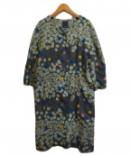 mina perhonen(ミナ ペルホネン)の古着「glimmer ドレス」|カーキ