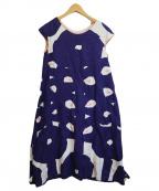 mina perhonen()の古着「hana tricot ドレス」|パープル