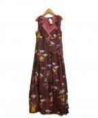 WEEKEND Max Mara(ウィークエンド マックスマーラ)の古着「花柄ノースリーブワンピース」|ピンク