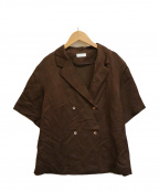 BALLSEY(ボールジィー)の古着「ドビーサテンシャツジャケット」|ブラウン