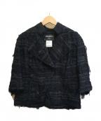 CHANEL(シャネル)の古着「ラメ混ツイードジャケットセットアップ」|ブラック