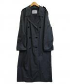 Aquascutum(アクアスキュータム)の古着「[古着]一枚袖トレンチコート」|グレー